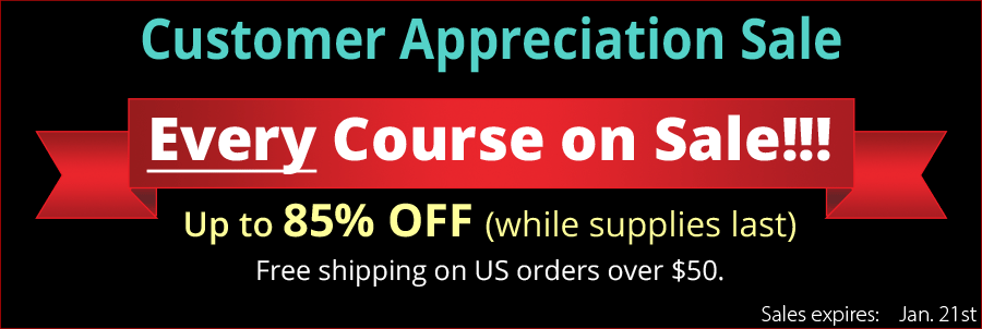 All Courses on Sale - Customer Appreciation Sale