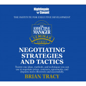 The Effective Manager Seminar Series: Negotiating Strategies and Tactics