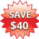 Save $40